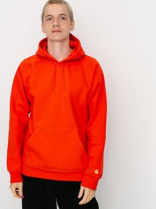 Mikina s kapucu0148ou Carhartt WIP Chase HD (safety orange/gold)