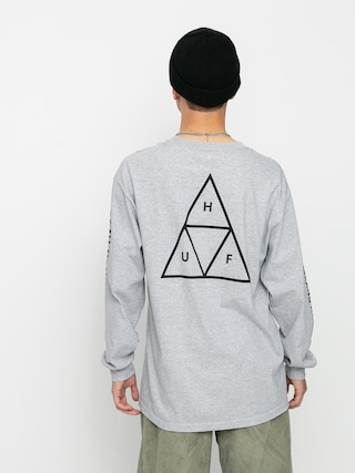 Triko HUF Essentials TT (grey heather)