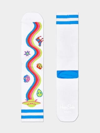 Ponožky Happy Socks Athletic Rainbow Trip (white/multi)