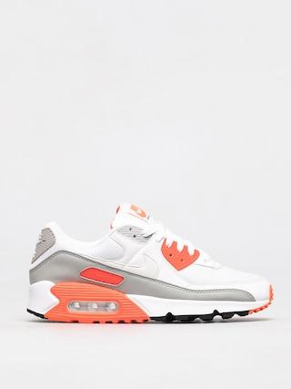 Topu00e1nky Nike Air Max 90 (white/white hyper orange lt smoke grey)