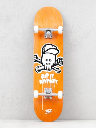 Skateboard Mob Skateboards Skull (yellow)