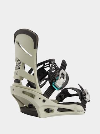 Snowboardovu00e9 viazanie Burton Mission (gray/green)