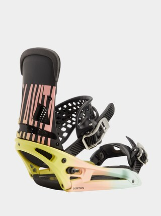 Snowboardovu00e9 viazanie Burton Malavita Est (pink/yellow/blue)