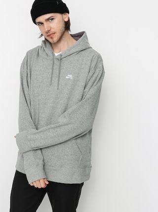 Mikina s kapucňou Nike SB Sb HD (dk grey heather/white)