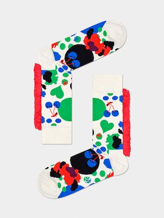 Ponožky Happy Socks Mane Jumbo Dot (white/red)