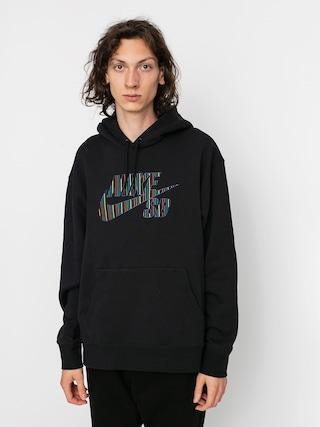 Mikina s kapucu0148ou Nike SB Stripes HD (black)