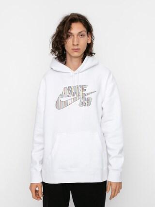 Mikina s kapucňou Nike SB Stripes HD (white)