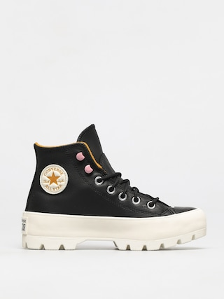 Topu00e1nky Converse Chuck Taylor All Star Lugged Winter Leather Wmn (black/saffron yellow/egret)