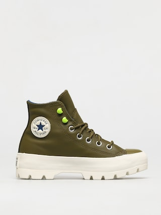 Topu00e1nky Converse Chuck Taylor All Star Lugged Winter Leather Wmn (dark moss/navy/egret)