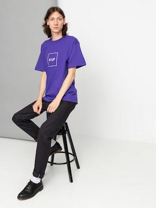 Tričko HUF Essentials Box Logo (purple)