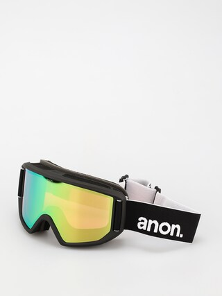 Snowboardovu00e9 okuliare Anon Relapse (black/perceive variable green)
