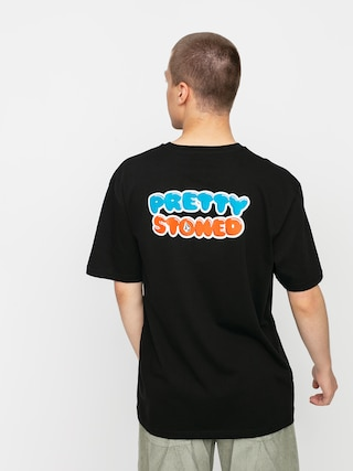 Tričko Volcom X Girl Skateboards Pretty Stoned Rlx (black)