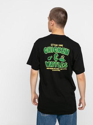 Tričko Vans Shake Junt Chicken And Waffle (black)