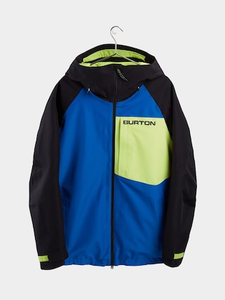 Snowboardovu00e1 bunda Burton Gore Tex Radial Insulated (lapis blue/true black/limeade)