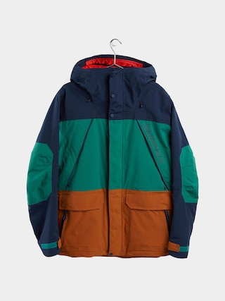 Snowboardovu00e1 bunda Burton Breach Insulated (dress blue/antique green/true penny)