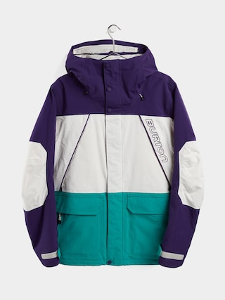 Snowboardovu00e1 bunda Burton Breach Insulated (parachute purple/stout white/dynasty green)