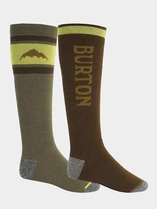 Ponožky Burton Weekend Midweight 2Pk (martini olive/keef)