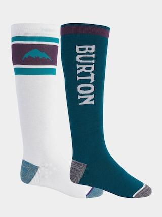 Ponožky Burton Weekend Midweight 2Pk (stout white/dynasty green)