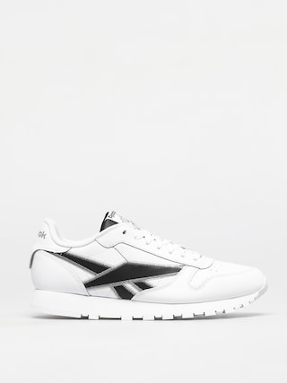 Topu00e1nky Reebok Classic Leather (white/black/msilve)