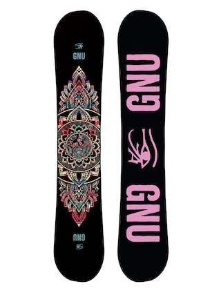 Snowboard Gnu Ladies Choice Wmn (black/pink)