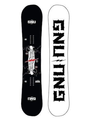 Snowboard Gnu Riders Choice (white/black)