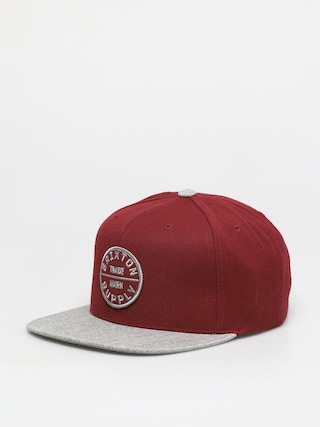 u0160iltovka Brixton Oath III Snapback (dark brick/heather grey)