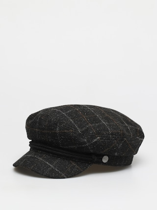 Klobu00fak so u0161iltom Brixton Fiddler Cap Wmn (black/dark brick)