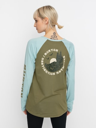 Termotriko Burton Roadie Base Layer Tech Wmn (martini olive/ether blue)