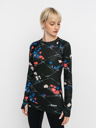 Termotriko Burton Lightweight X Base Layer Crew Wmn (true black landscape floral)