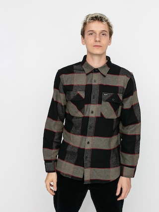 Kou0161eu013ea Brixton Bowery Flannel Ls (heather grey/charcoal)