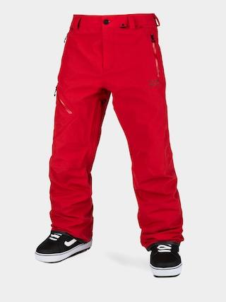 Snowboardové nohavice Volcom L Gore Tex (red)