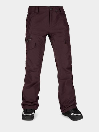 Snowboardovu00e9 nohavice Volcom Aston Gore Tex Wmn (black red)