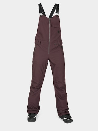 Snowboardovu00e9 nohavice Volcom Swift Bib Overall Wmn (black red)