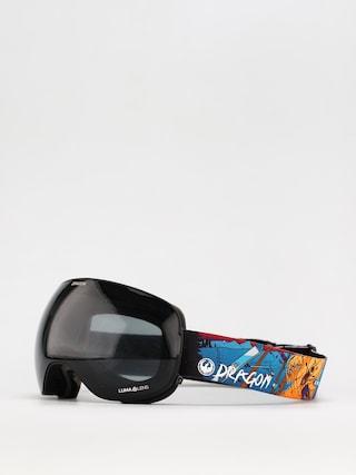 Snowboardovu00e9 okuliare Dragon X2 (teddy/ll dark smoke/ll violet)