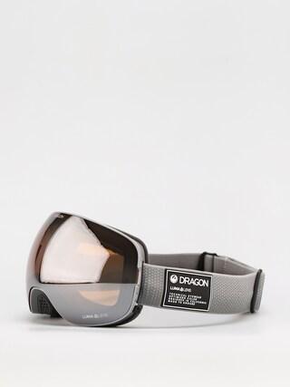 Snowboardové okuliare Dragon X2 (titanium/ll silver ion/ll dark smoke)
