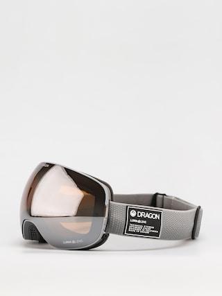Snowboardovu00e9 okuliare Dragon X2 (titanium/ll silver ion/ll dark smoke)