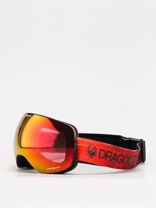 Snowboardovu00e9 okuliare Dragon X2 (inferno/ll red ion/ll rose)