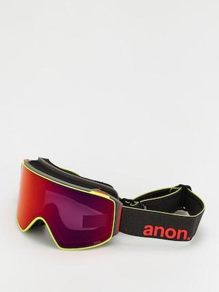 Snowboardovu00e9 okuliare Anon M4 Cylindrical Mfi (black pop/perceive sunny red)