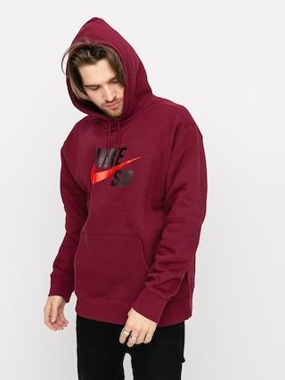 Mikina s kapucu0148ou Nike SB Icon HD (dark beetroot/chile red)
