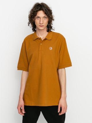 Polo triu010dko Polar Skate Pique (golden brown)
