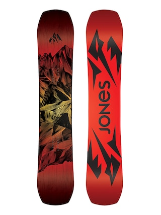 Snowboard Jones Snowboards Mountain Twin (red/black)