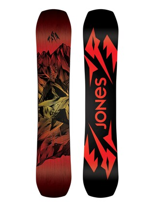 Snowboard Jones Snowboards Mountain Twin (black/red)