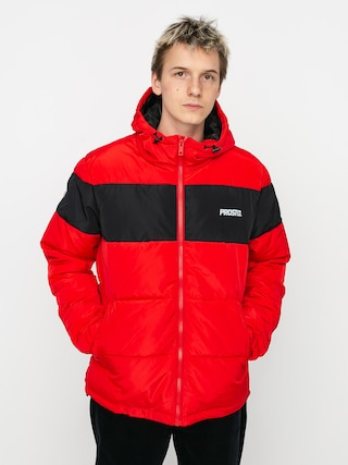 Bunda Prosto Winter Adament (red/black)