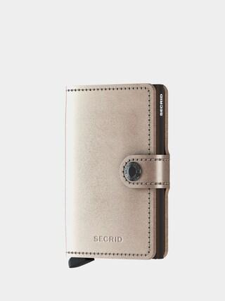 Peu0148au017eenka Secrid Miniwallet (metallic champagne/brown)