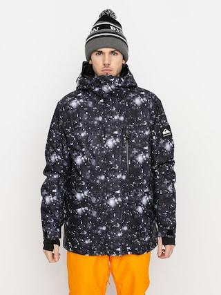 Snowboardová bunda Quiksilver Mission Printed (true black woolflakes)