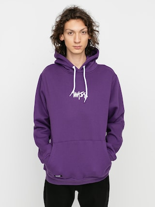 Mikina s kapucňou MassDnm Signature Small Logo HD (purple)