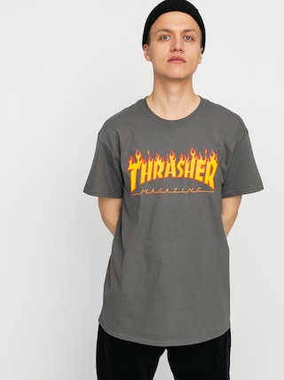 Triu010dko Thrasher Flame Logo (charcoal grey)