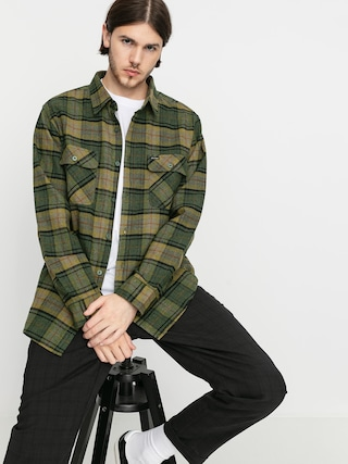 Kou0161eu013ea Brixton Bowery Flannel Ls (evergreen)