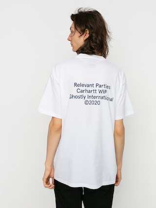 Tričko Carhartt WIP X Relevant Parties Ghostly (white)