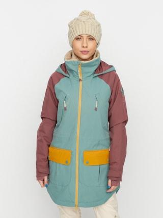 Snowboardovu00e1 bunda Burton Prowess Wmn (trellis/rose brown/harvest gold)